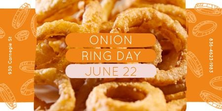 Fried onion rings Image Design Template