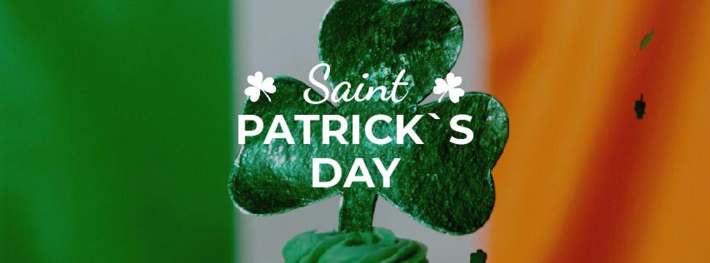 Saint Patrick's Day cupcake with clover — Créer un visuel