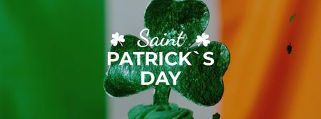Modèle de visuel Saint Patrick's Day cupcake with clover - Facebook Video cover
