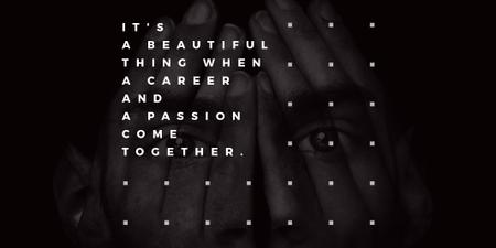 Citation about career and passion Twitterデザインテンプレート