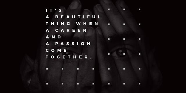 Modèle de visuel Citation about career and passion - Twitter