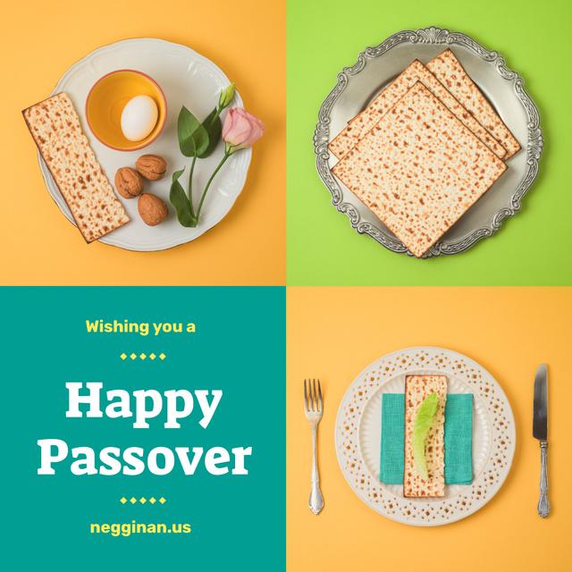 Happy Passover dinner Instagram Modelo de Design