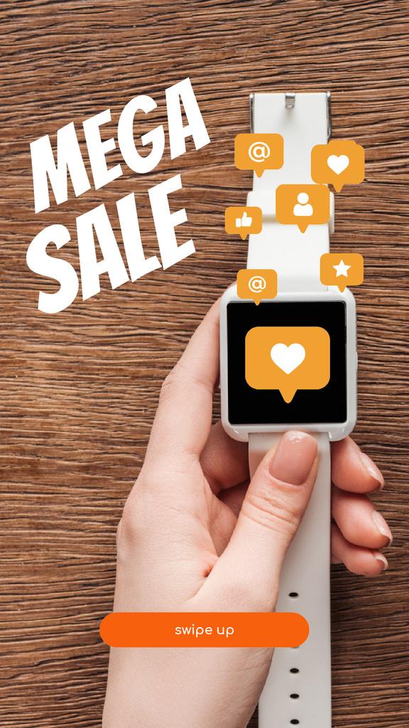 Smartwatches sale with Heart sticker — Créer un visuel