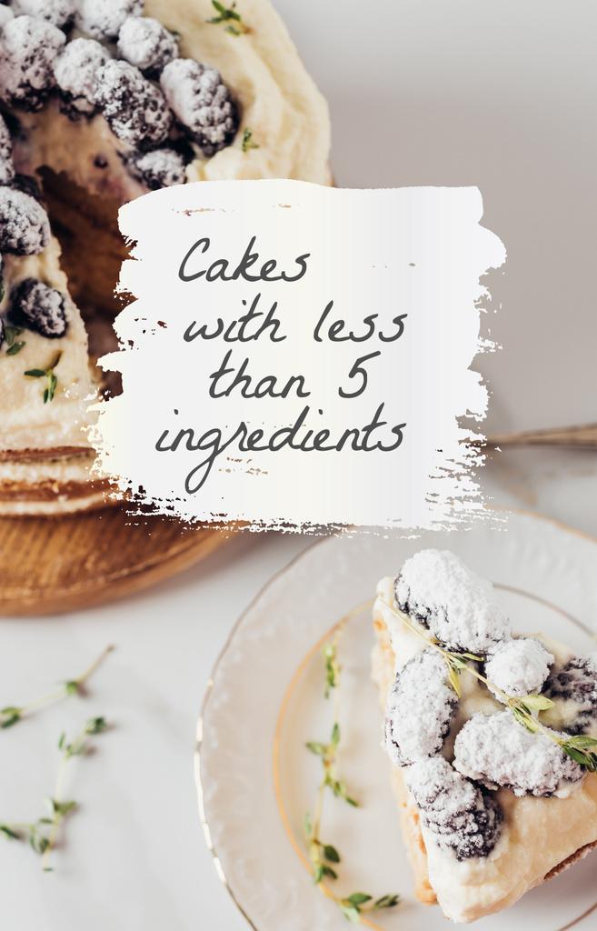 Sweet Cake with Cream and berries — Maak een ontwerp