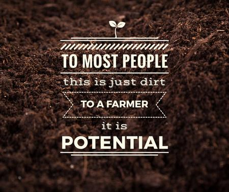 Plantilla de diseño de Farming quote on farm field Soil Facebook