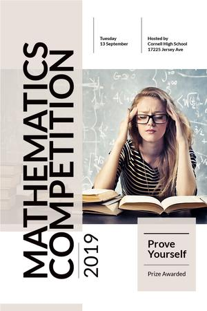 Mathematics competition Announcement Pinterestデザインテンプレート
