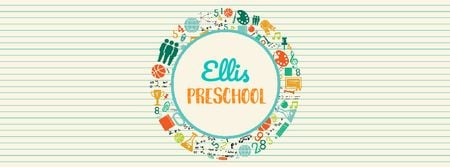 Plantilla de diseño de Ellis Preschool Facebook Video cover