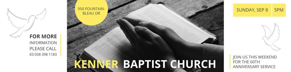 Baptist Church Invitation with Prayer — Create a Design
