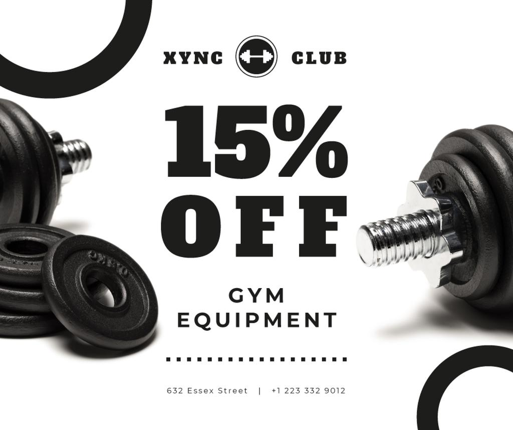Gym Equipment Sale with Dumbbells — Створити дизайн