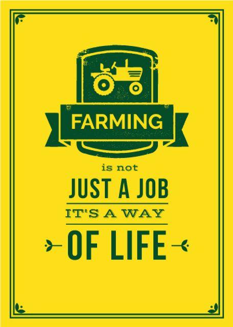 Plantilla de diseño de Agricultural Quote Tractor Icon in Yellow Flayer