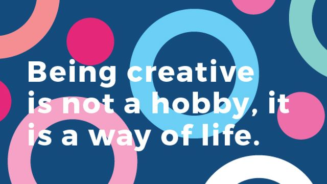 Creativity Quote on Colorful circles pattern Title Tasarım Şablonu