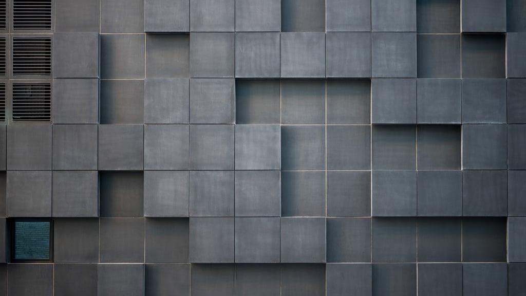 Concrete wall with cube bricks — ein Design erstellen