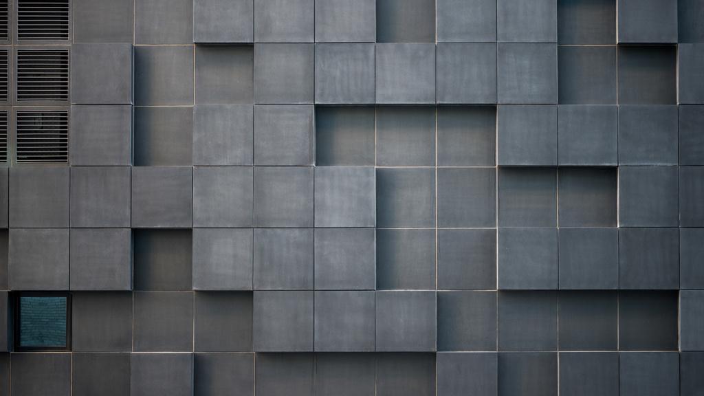 Concrete wall with cube bricks — Создать дизайн