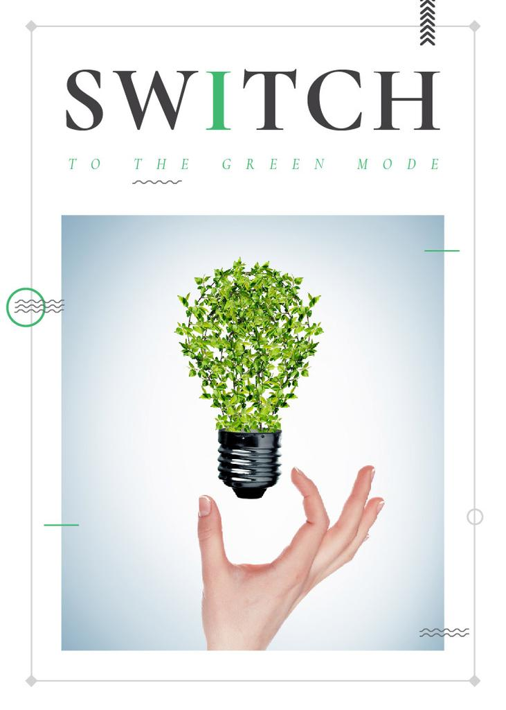 Eco Light Bulb with Leaves — Создать дизайн