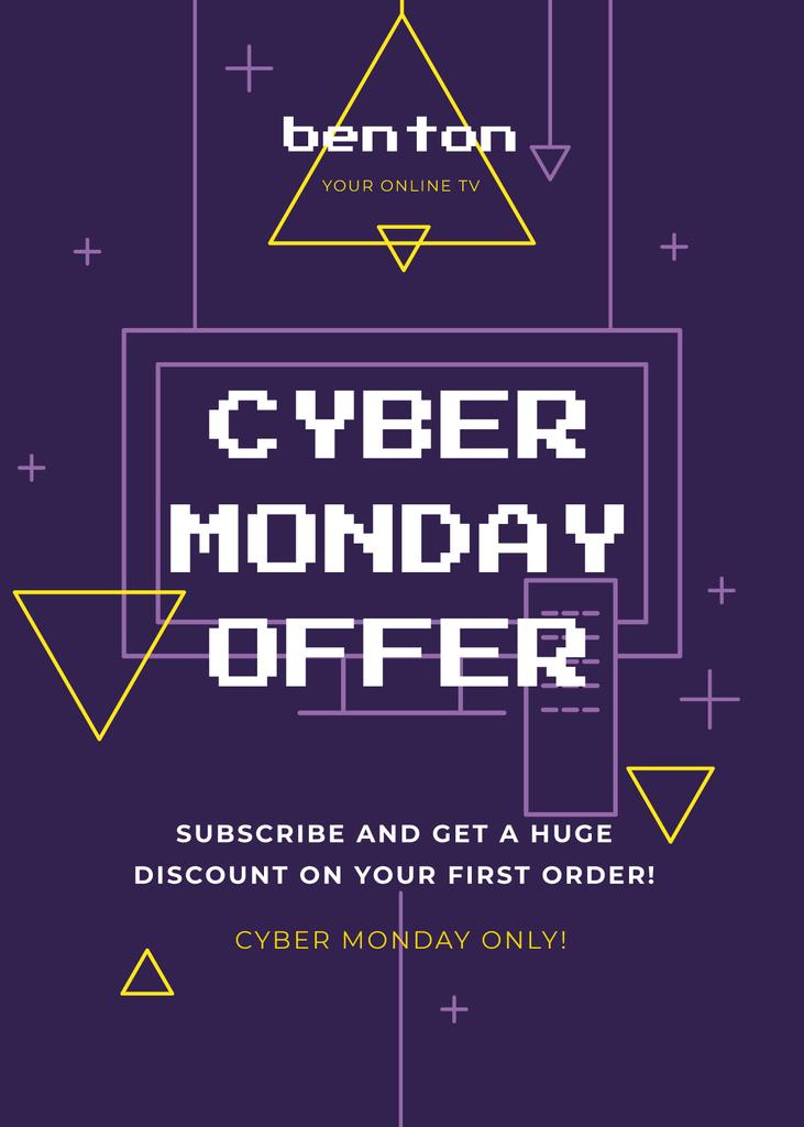 Cyber Monday Sale Digital Pattern in Purple —デザインを作成する