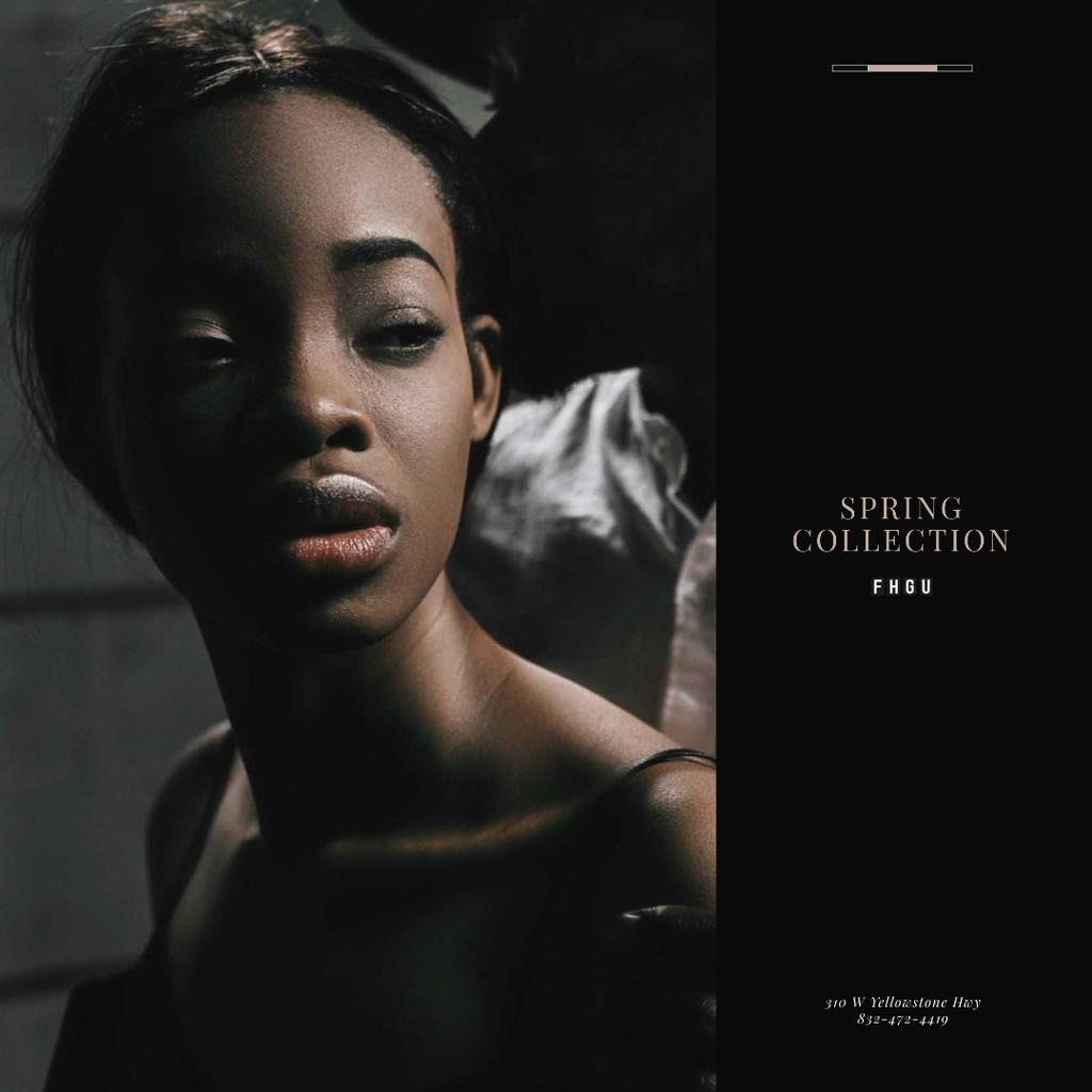 Young attractive African American woman – Stwórz projekt