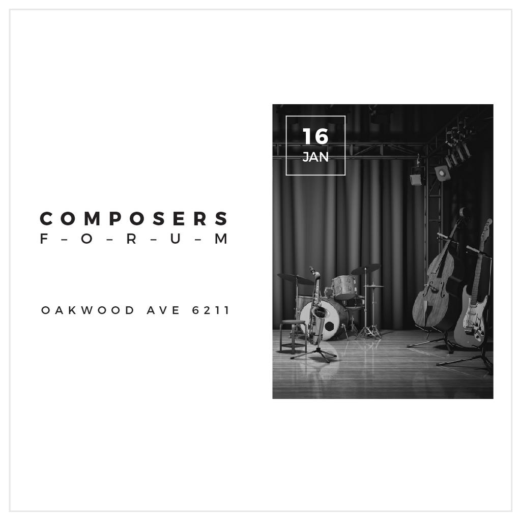Template di design Composers Forum Instruments on Stage Instagram AD