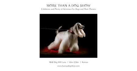 Plantilla de diseño de Dog show Announcement Facebook AD