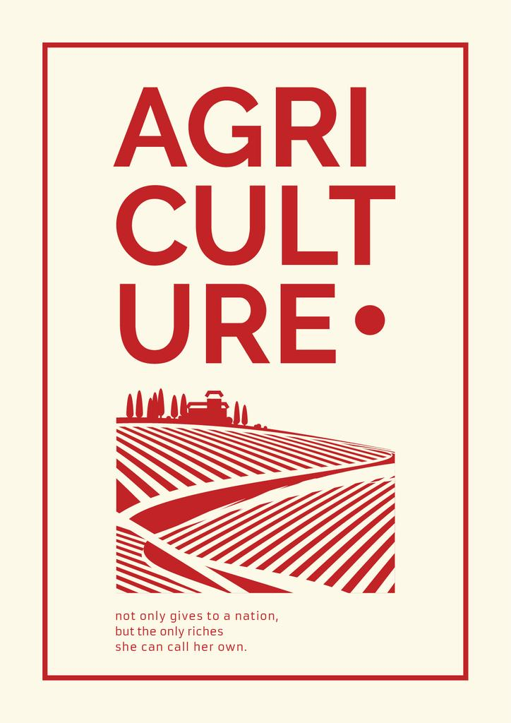 Agricultural poster with text — Create a Design