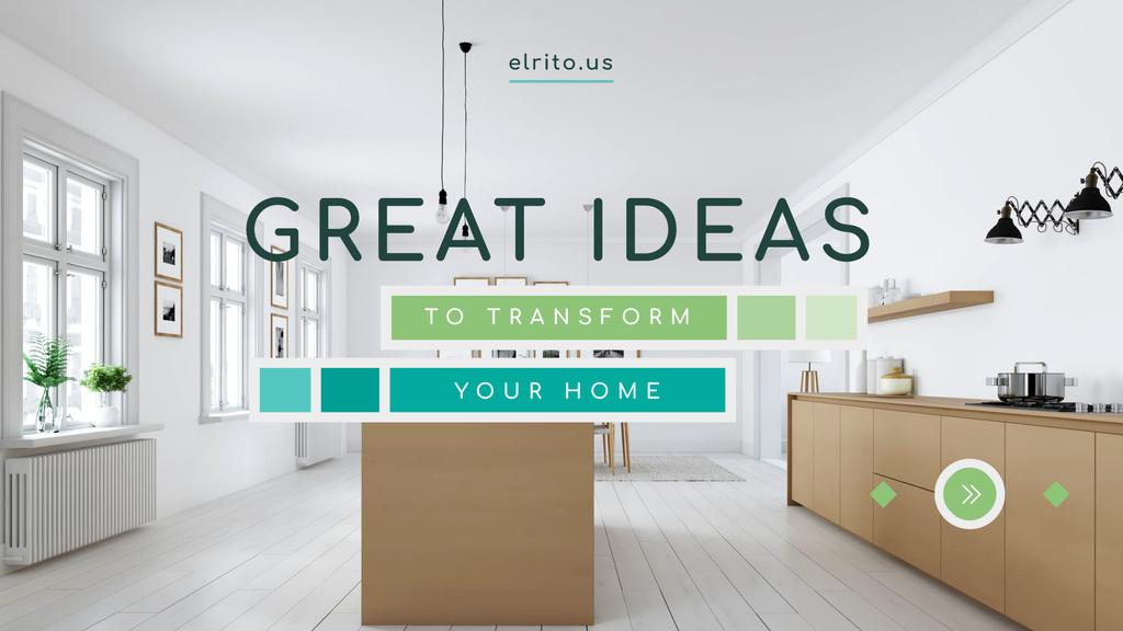 Modern Home Kitchen Interior in White — Créer un visuel