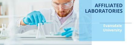 Affiliated laboratories in University Email header Modelo de Design