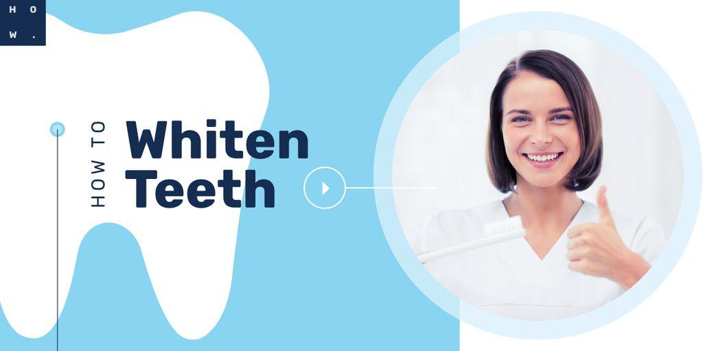 Woman brushing her teeth — Maak een ontwerp