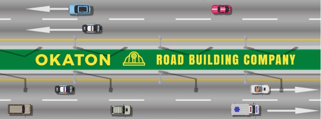 Cars and trucks on a road — Создать дизайн