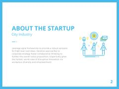 City Startup with Digital Devices Icons and Network