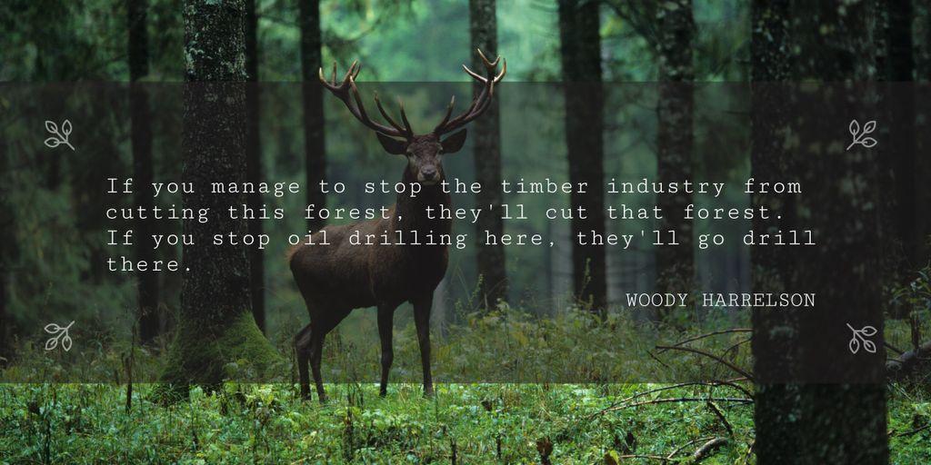 Nature saving quote poster — Создать дизайн