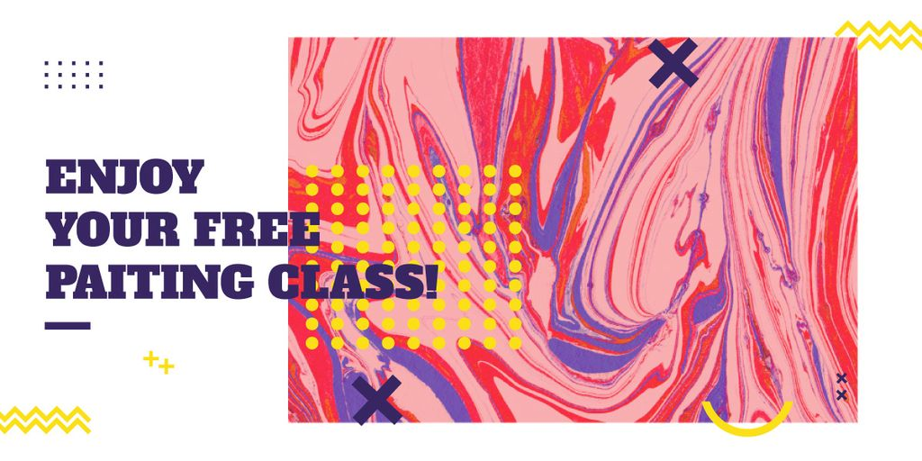 free painting class poster — Crear un diseño