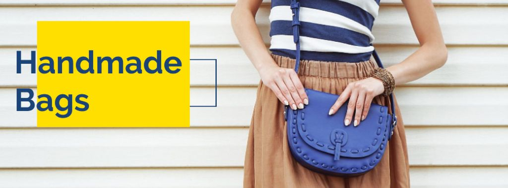 Handmade bags Offer Facebook cover – шаблон для дизайну