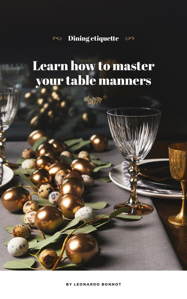 Festive formal dinner table setting — Créer un visuel