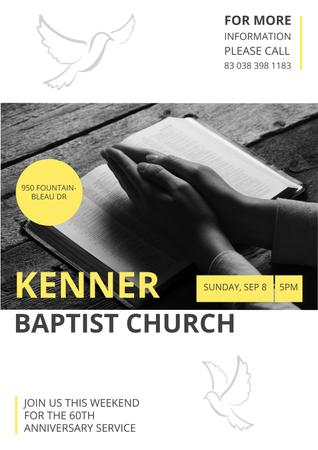 Kenner Baptist Church Poster Modelo de Design