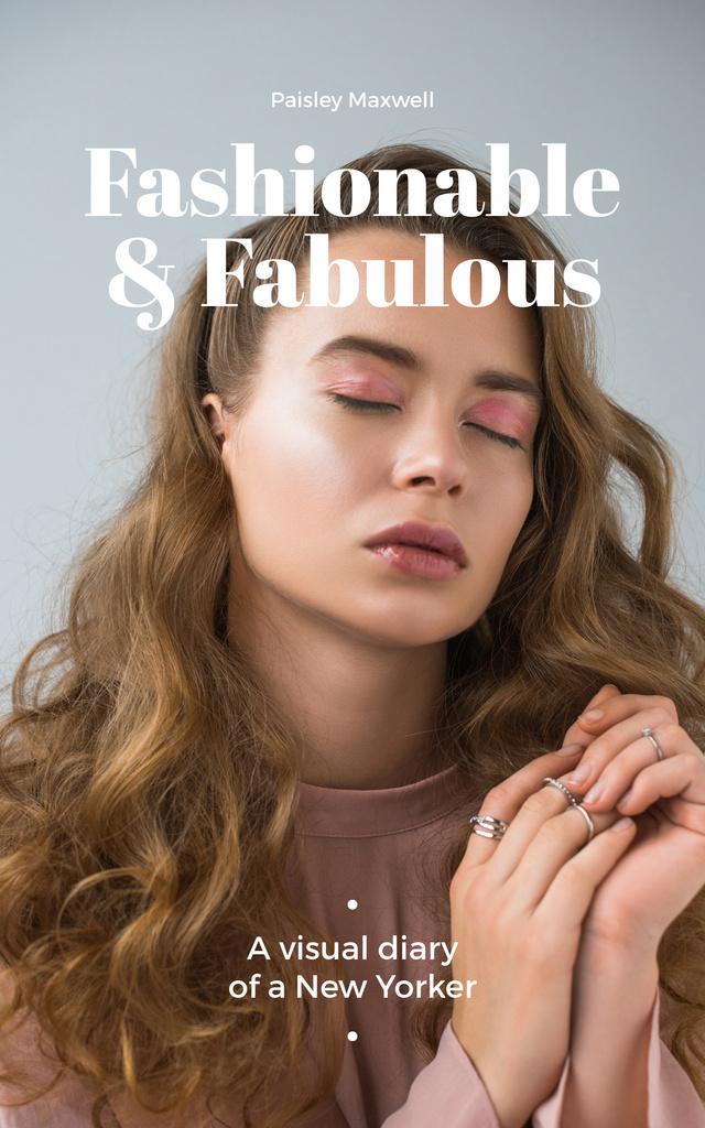 Young attractive woman — Modelo de projeto