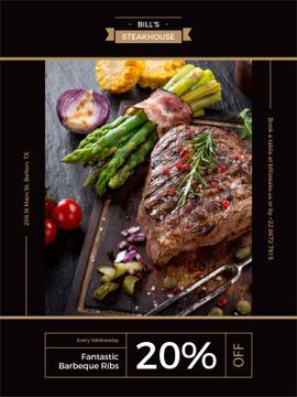 Steak house advertisement banner