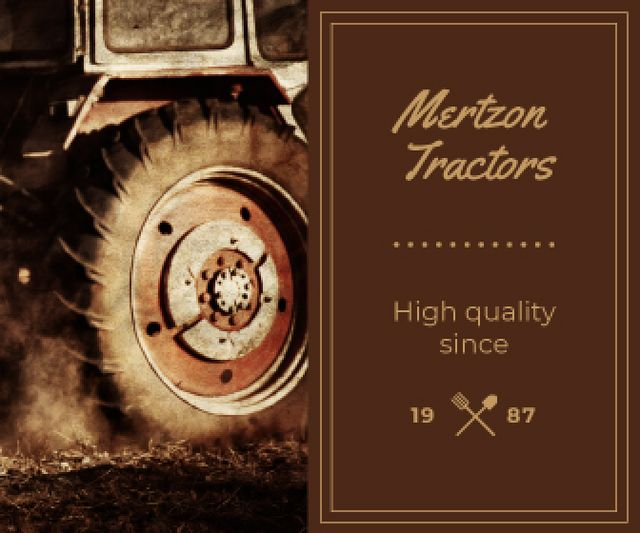 Template di design Tractor Working in Field Large Rectangle