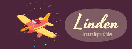 Plantilla de diseño de Flying toy plane Facebook Video cover