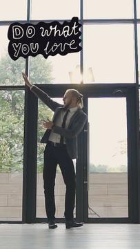 Cheerful Businessman dancing