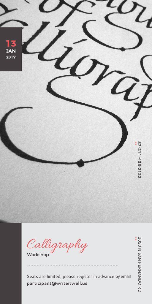 Template di design Calligraphy Workshop Announcement Decorative Letters Graphic