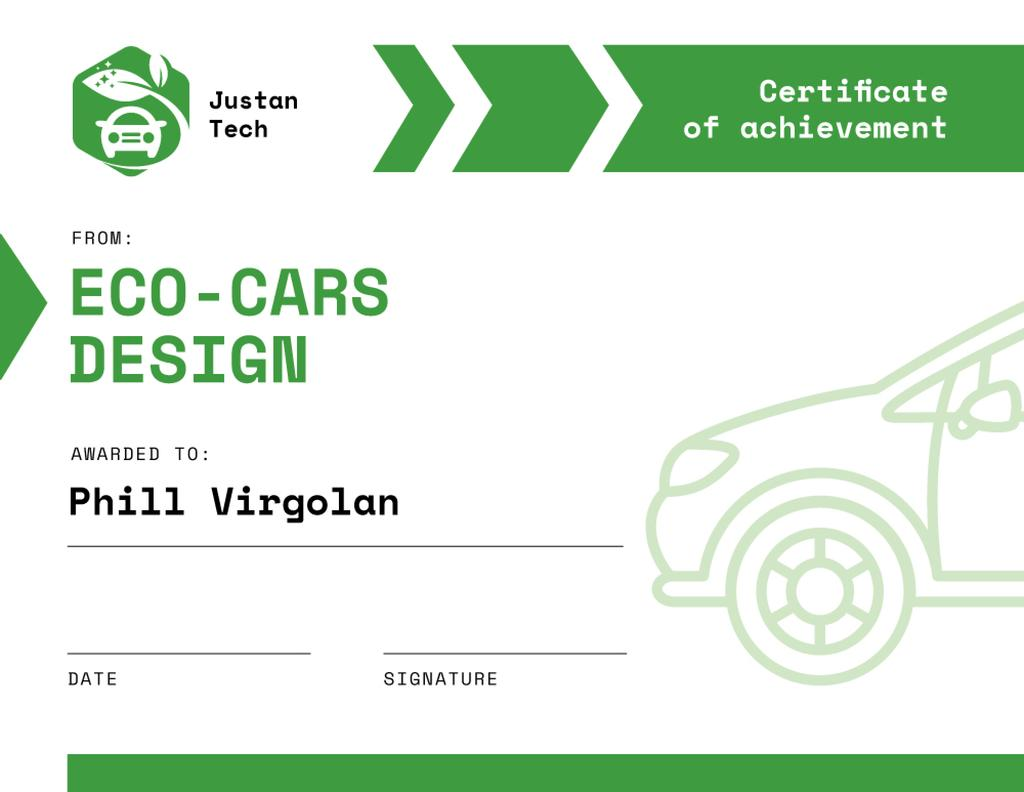 Achievement in Eco Cars design in green —デザインを作成する