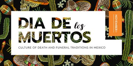 Template di design Dia de los muertos pattern Image