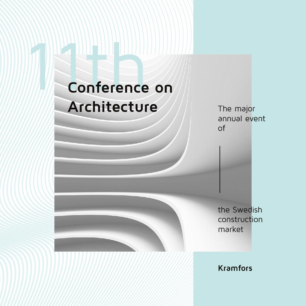 Conference Announcement Futuristic Concrete Structure Walls — Créer un visuel