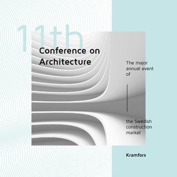 Conference Announcement Futuristic Concrete Structure Walls