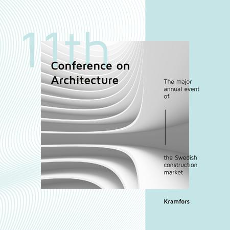 Conference Announcement Futuristic Concrete Structure Walls Instagram AD Modelo de Design