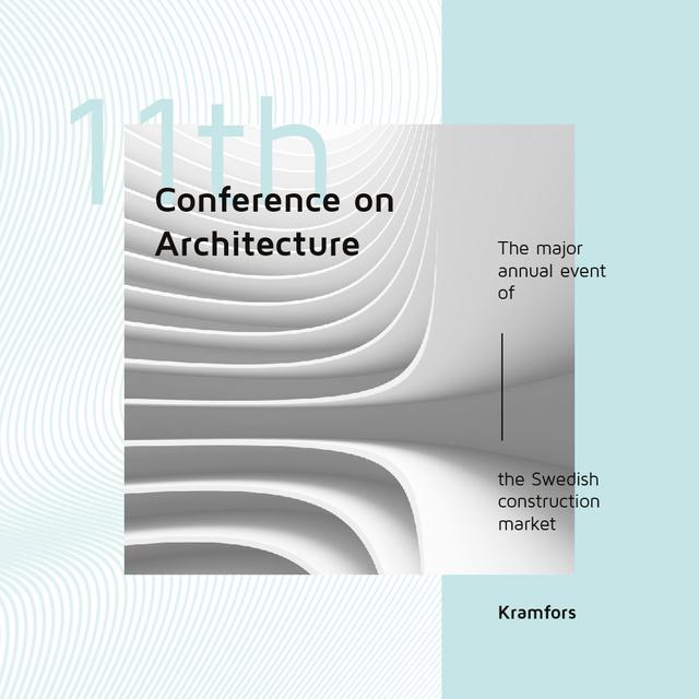 Conference Announcement Futuristic Concrete Structure Walls Instagram AD – шаблон для дизайна