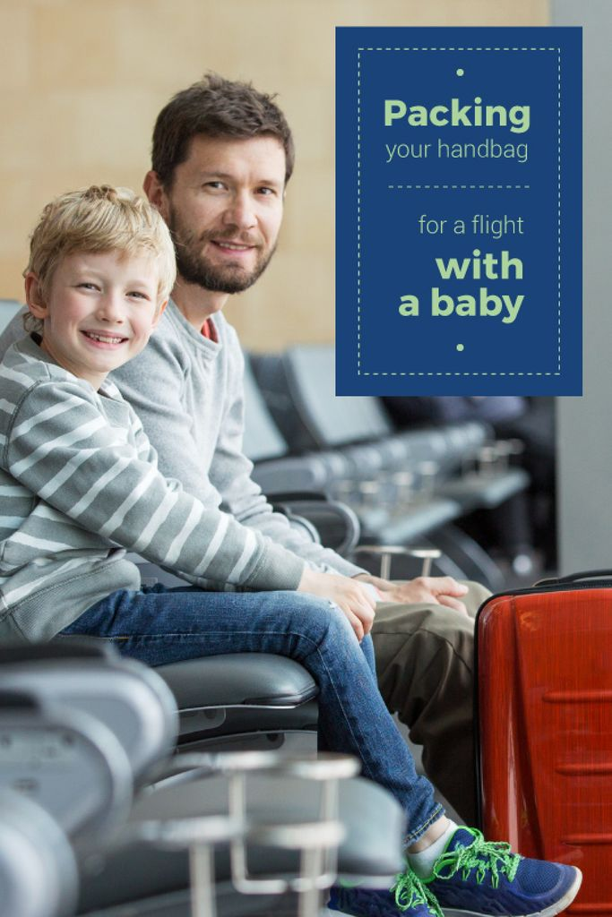 Travelling with Kids Dad with Son in Airport — Crear un diseño