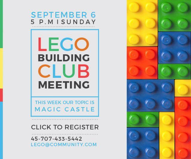 Template di design Lego Building Club Meeting Medium Rectangle