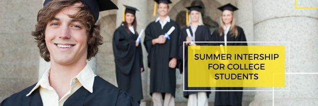 Plantilla de diseño de Summer intership for college students poster Twitter