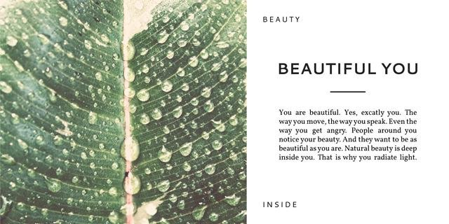 Beauty inspirational quote poster Image Design Template