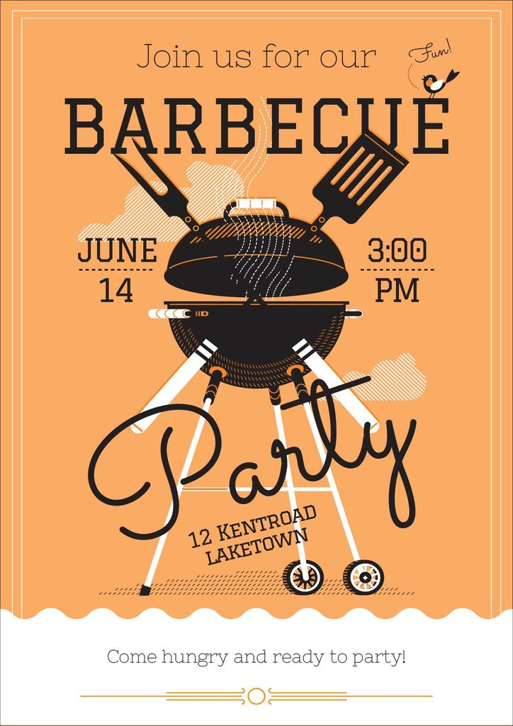 Barbecue party invitation — Modelo de projeto
